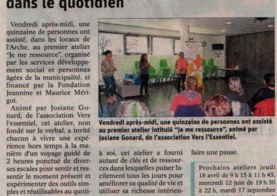 Article D. Libéré - Atelier CCAS Seyssinet - mars 2019